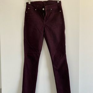 Burgundy 7 for all mankind jeans